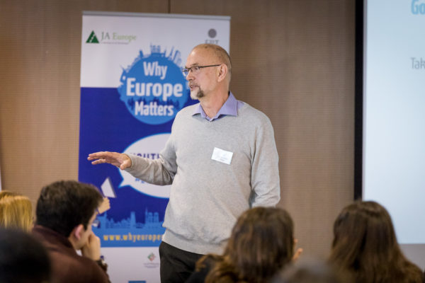 Photographer in Brussels, Belgium. Event Photography of Why Europe Matters for JA Europe by Dani Oshi.